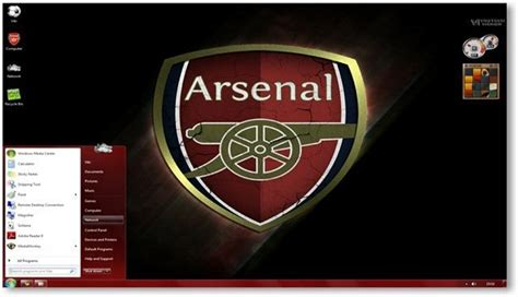arsenal themes for windows 10 windows 7 themes arsenal fc theme for windows sports