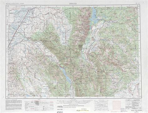 usgs topographic maps driggs topographic maps wy id usgs topo 43110a1 at 1 250 000 scale
