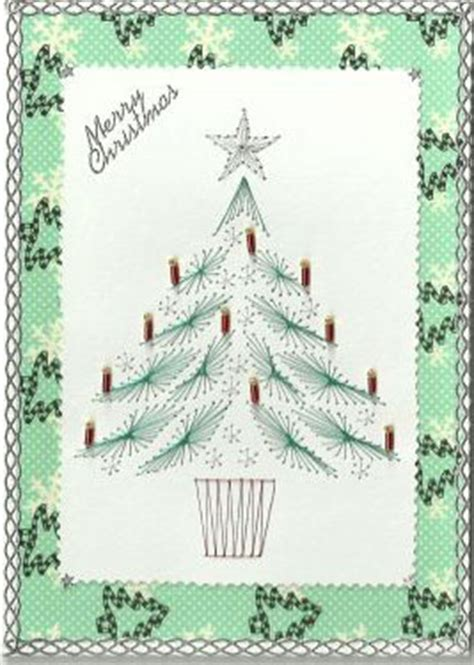 tree card stitch template tree forum gallery stitching card of the week