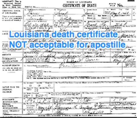 New Orleans Vital Records Birth Certificate Louisiana Apostille Apostille Service By Apostille Net