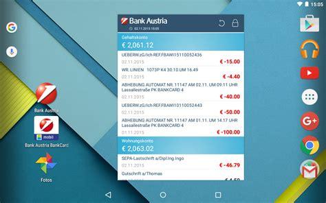 bank austria mobile banking bank austria mobilebanking 4 2 5 apk android