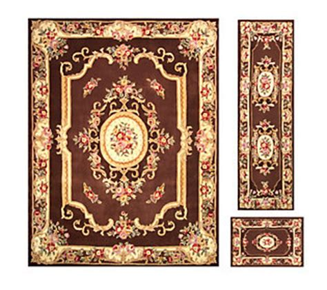 royal palace rugs sale royal palace alexandria wool 76x 96 rug with runner and accent rug qvc
