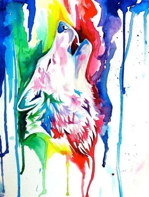 watercolor wolf tutorial possible watercolor wolf tattoo tattoo ideas pinterest
