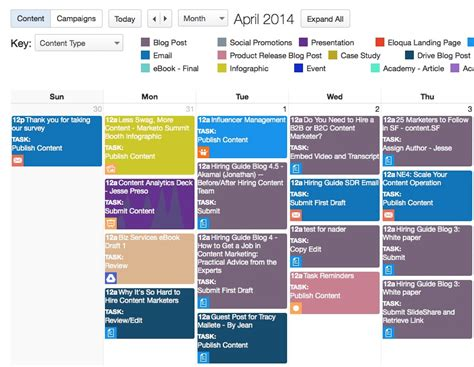content marketing calendar template the complete guide to choosing a content calendar