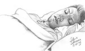 sleeping dean sketch by sillie on deviantart
