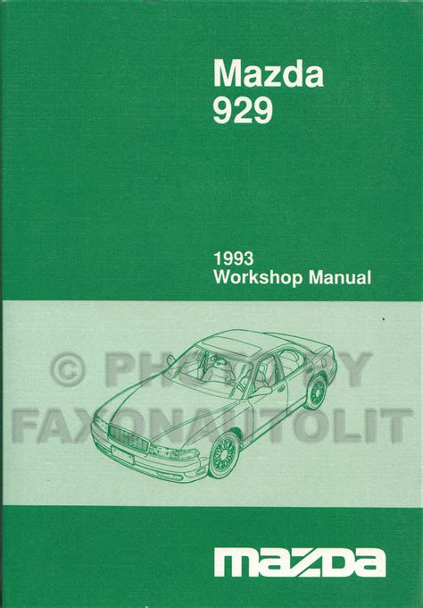 books about how cars work 1993 mazda 929 seat position control 1993 mazda 929 repair shop manual original