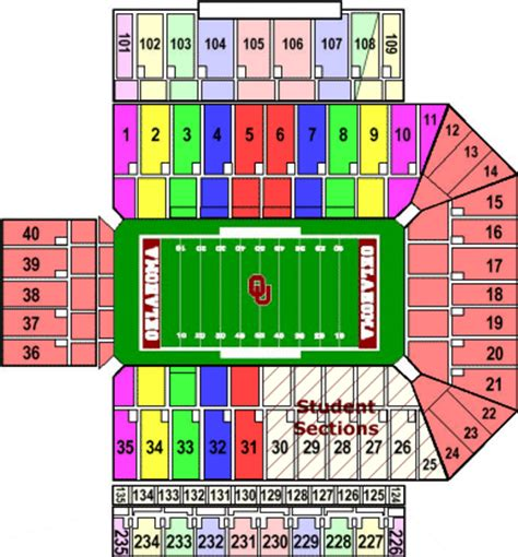 oklahoma state football stadium seating chart oklahoma sooners tickets for sale schedules and seating