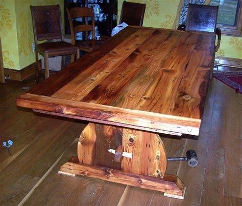 custom farmhouse table virginia custom made bavarian trestle table from reclaimed