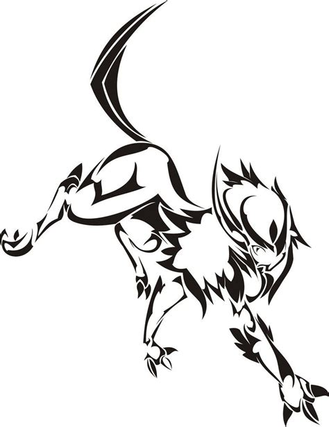 tribal tattoo pokemon absol idea tattoos pok 233 mon