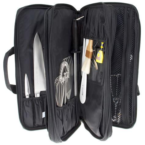 3 section knife bag black