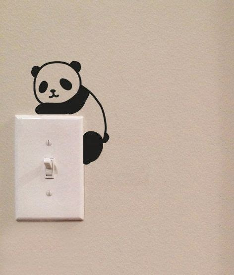 panda light switch vinyl wall decal sticker
