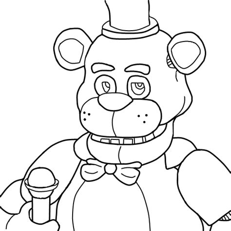 Fnaf 4 Coloring Pages by Flowr S