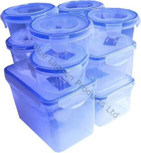 plastic food storage containers with lids 12 plastic air tight food storage containers clip lock