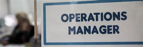 Operations Supervisor by Operations Manager