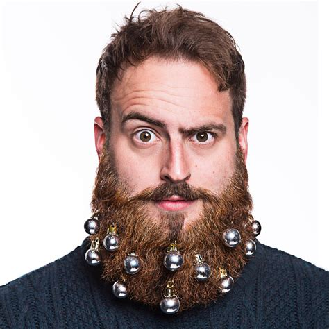 Christmas Baubles by Beard Baubles Beard Ornaments Beardo 174