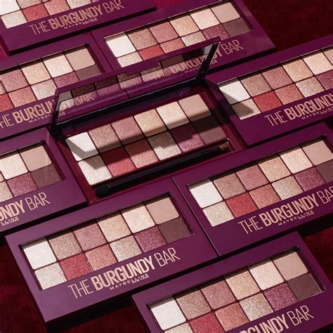 Maybelline Eyeshadow the maybelline burgundy bar eyeshadow palette is finally
