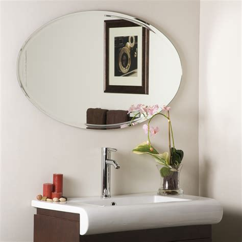 bathroom mirror decor decor wonderland extra long oval wall mirror beyond stores