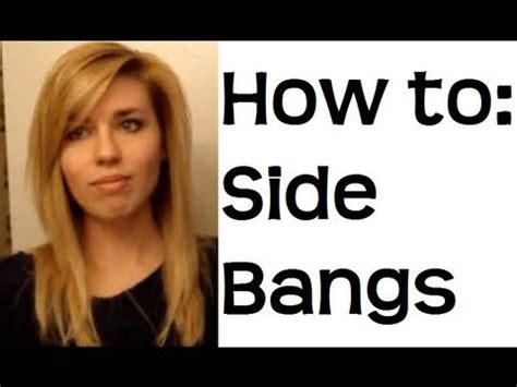 how to style bangs to the side for mature women how to style side swept bangs and my daily hair routine