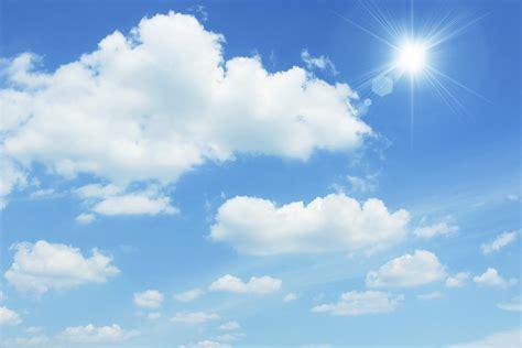 photo sunny sky blue bright clouds