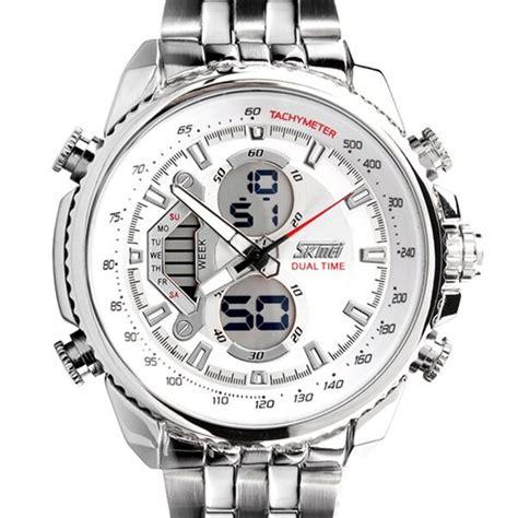 Jual Promo Jam Tangan Pria Mewah Casio Skmei 9098 30m White jual promo skmei casio sport led water resistant 50m ad0993 jam tangan lelaki