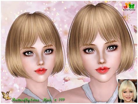 sims 3 females hair my sims 3 blog butterflysims 109 hair for females