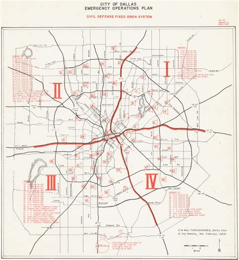 dallas texas city map civil defense museum warning sirens city of dallas texas siren system maps from 1974