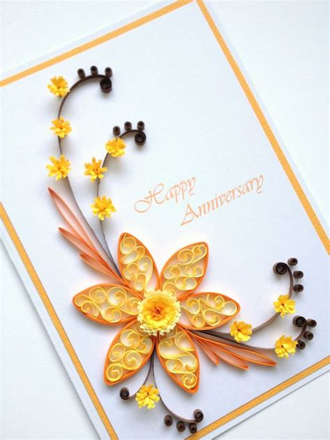 Handmade Paper Quilling Cards - paper quilling happy anniversary card quilled por joscin