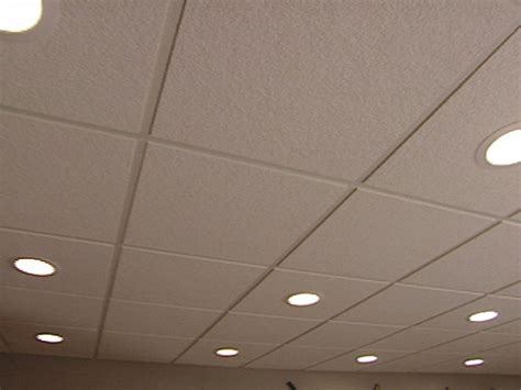 Lighting For Drop Ceiling Basement How To Install An Acoustic Drop Ceiling How Tos Diy