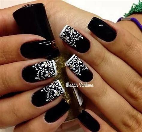 Design For Nails Black And White 80 black and white nail designs