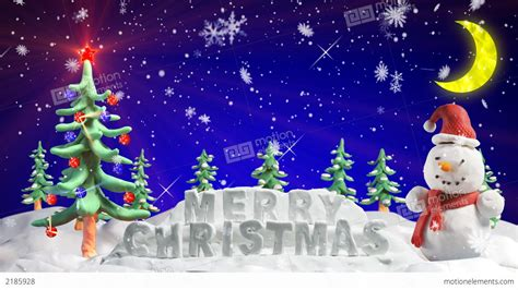 merry christmas clay  loopable scene stock animation