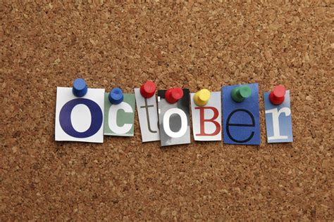 special days and observances in october