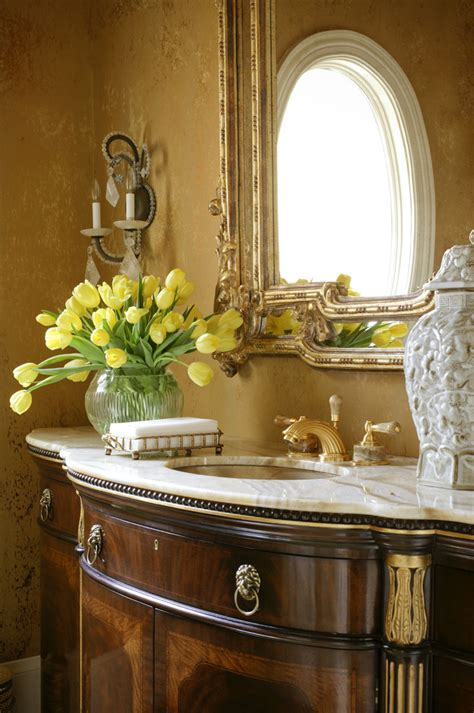 Powder Bath Vanity Powder Room Vanities Powder Room Traditional With Eiffel