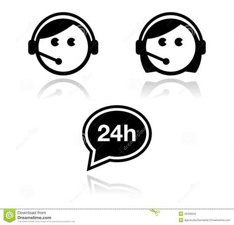 call center di commercio icone di servizio di assistenza al cliente impostate