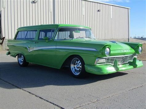 green station wagon 1957 custom ford station wagon station wagon pinterest