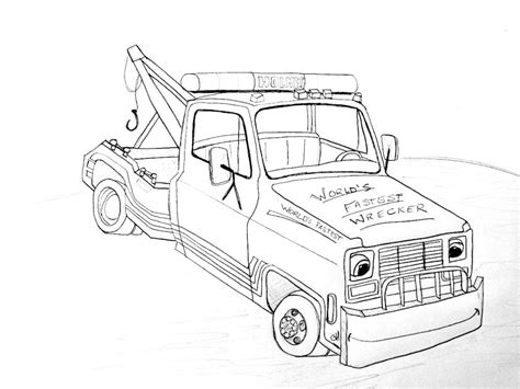 tow truck coloring page printout tow trucks for kids coloring home