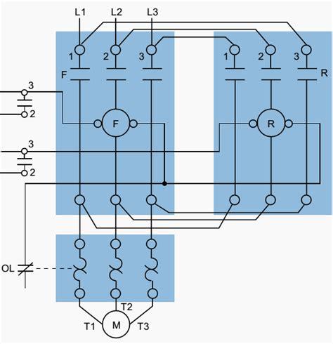 wiring diagram for 3 phase forward starter motor