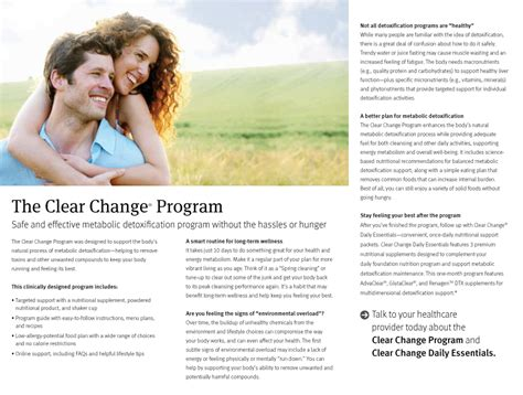 Clear Change 10 Day Detox by 10 Day Detox Highland Heights Oh The Highland