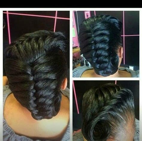 puctur of goddess braid with fishtail goddess braids protective styles and fish tail on pinterest