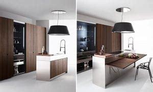 cucine con tavolo incorporato cucine con tavolo a scomparsa il segreto per ottimizzare
