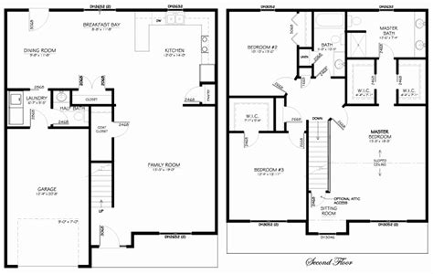Floor Plan 2 Story House by 2 Story Floor Plans Beautiful The 25 Best Two Storey House