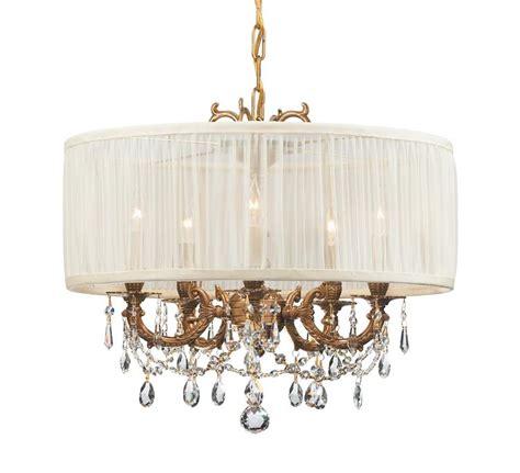 5 light drum shade chandelier crystorama gramercy 5 light brass drum shade chandelier