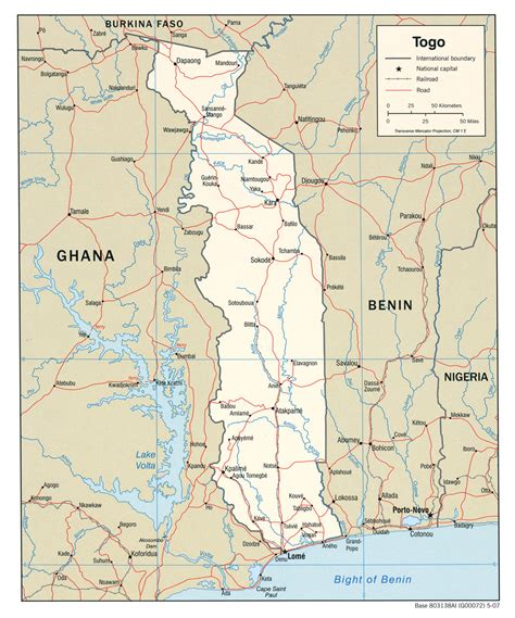 file togo political map 2007 cia jpg wikimedia commons