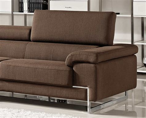 brown fabric sectional sofa modern brown sectional sofa vg316 fabric sectional sofas