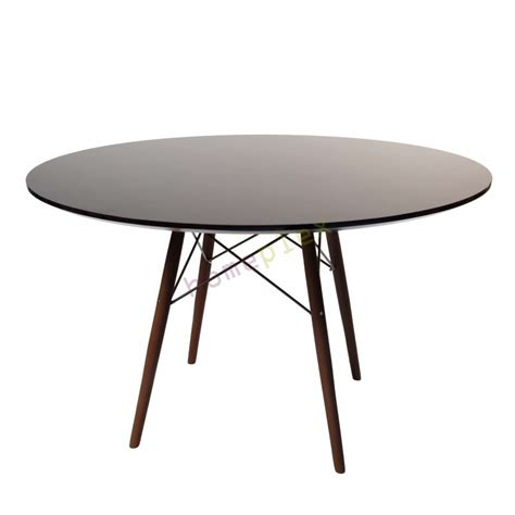Replica Eames Dining Table Replica Eames Dsw Eiffel Black Dining Table With Walnut Legs 120cm