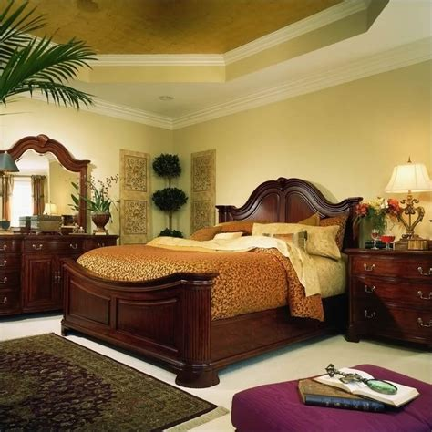 american drew bedroom set american drew cherry grove mansion wood panel bed 5 piece