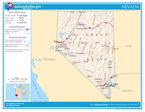 detailed map of nevada usa large detailed map of nevada state nevada state large