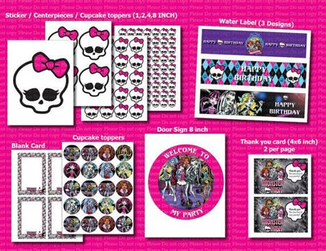 printable monster high student id cards 16 best monster high themed birthday party images on