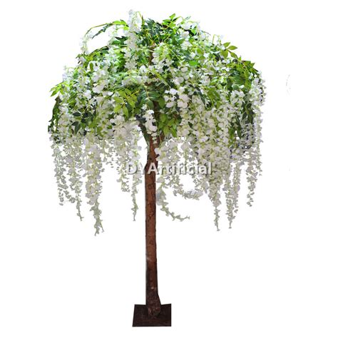 Topiary Outdoor - 6ft artificial white wisteria tree for indoor wedding decorations dongyi
