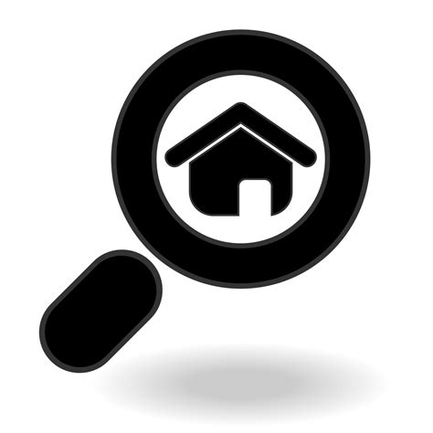 find house vector for free use search home icon