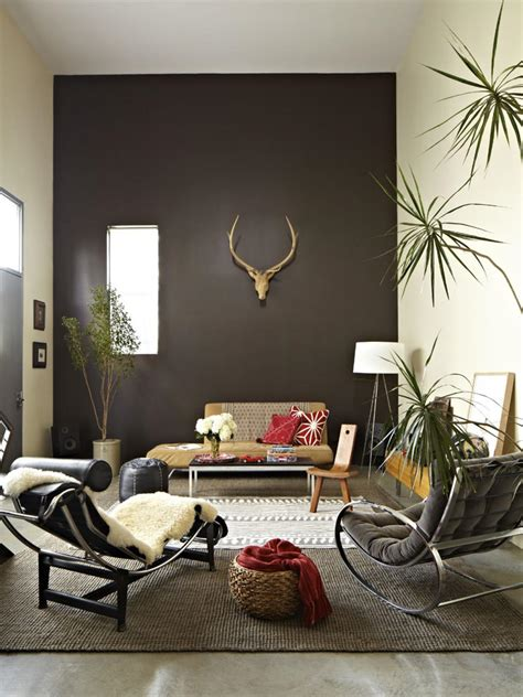 living room with accent wall photos hgtv